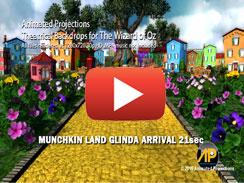 MUNCHKIN LAND GLINDA ARRIVAL